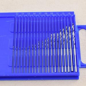 HSS-Mikro-Spiralbohrer 0,30 - 1,60 mm, 20teilig