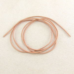 Ziegenlederband naturfarben 1,5 mm