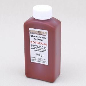 D&M Farbpaste D ROTBRAUN, 200 g
