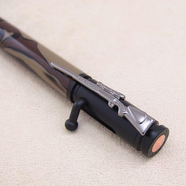 Repetier-Kugelschreiber-Bausatz Black Enamel, Detail Kappe