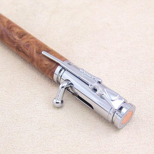 Repetier-Kugelschreiber-Bausatz chrom, Detail Kappe