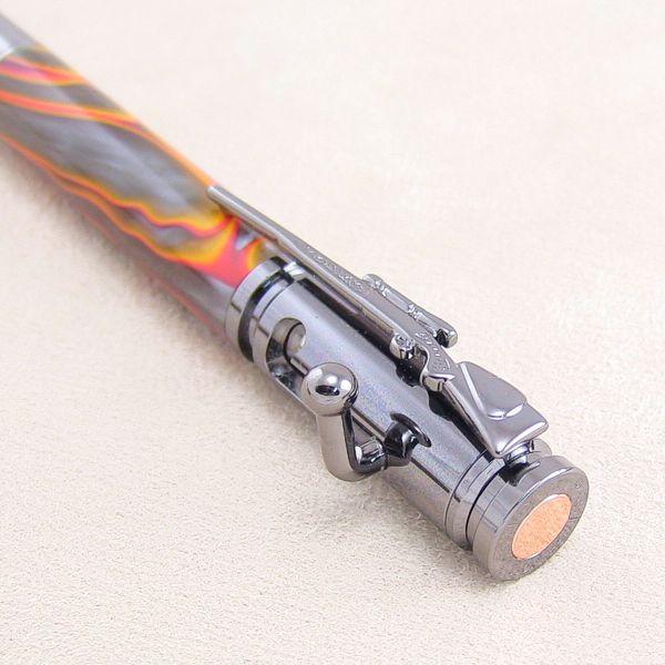 Repetier-Kugelschreiber-Bausatz Gun-Metal, Detail Kappe