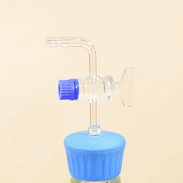 Detailansicht Glas-Vakuumhahn